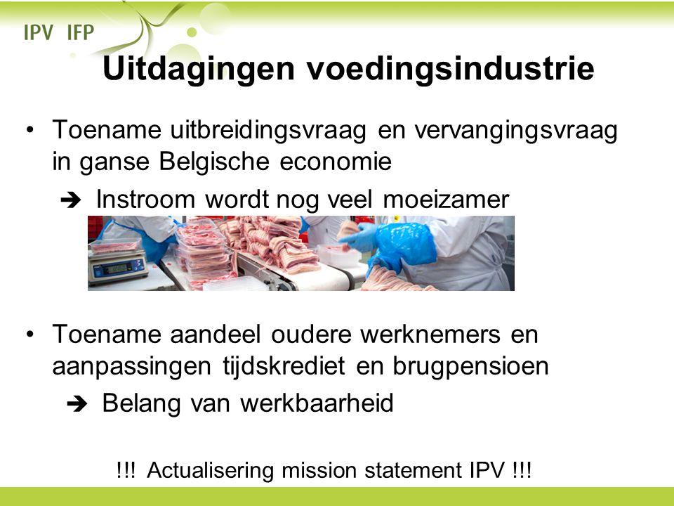 •Toename uitbreidingsvraag en vervangingsvraag in ganse Belgische economie  Instroom wordt nog veel moeizamer •Toename aandeel oudere werknemers en a