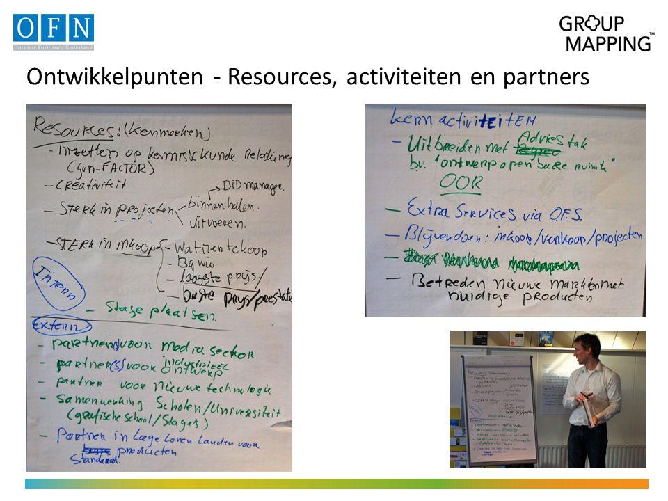 Ontwikkelpunten - Resources, activiteiten en partners
