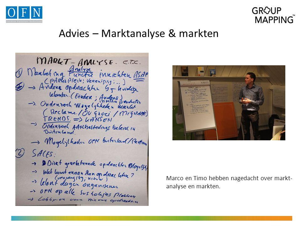 Advies – Marktanalyse & markten Marco en Timo hebben nagedacht over markt- analyse en markten.