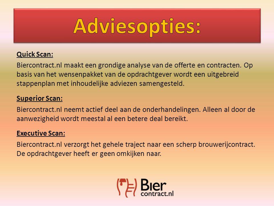 Quick Scan: Biercontract.nl maakt een grondige analyse van de offerte en contracten.
