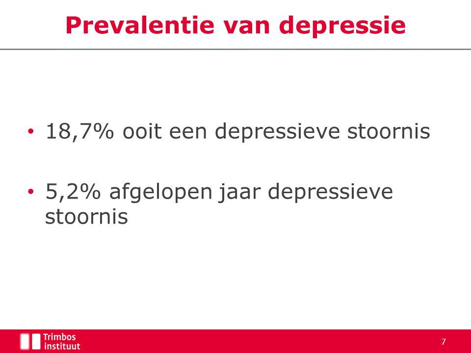 8 Epidemiologie van depressie
