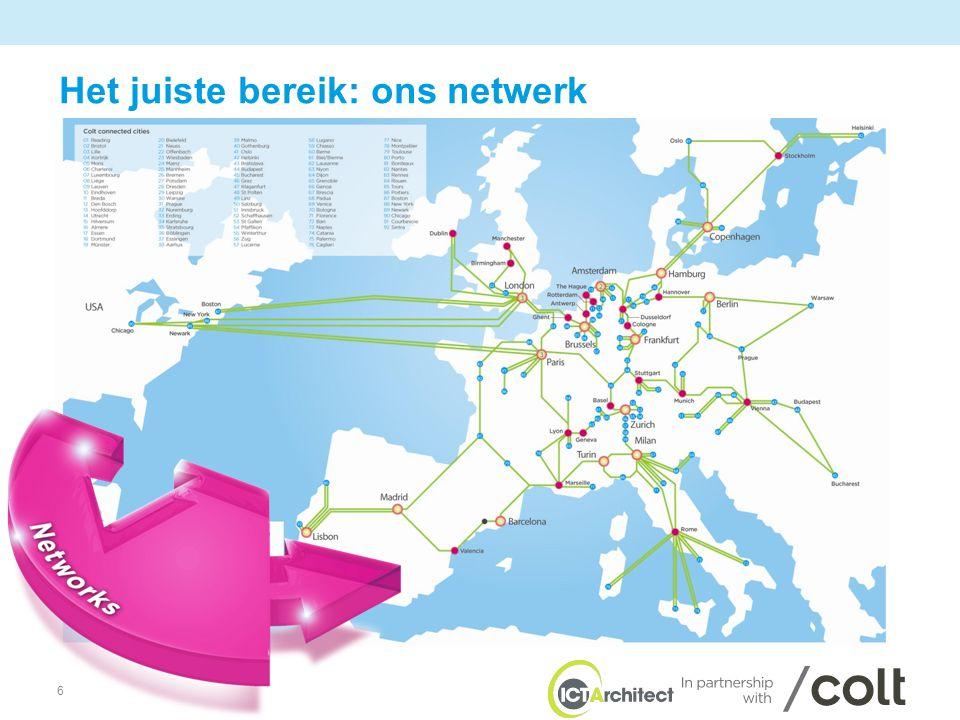 6 Het juiste bereik: ons netwerk