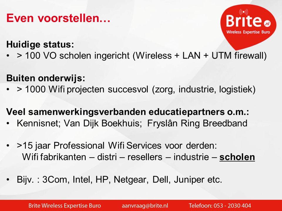 •Kennis + ervaring in vast en draadloos netwerk •Veel deelnemers ICT Noord al geholpen  Wifi 2.0 ** bijv.