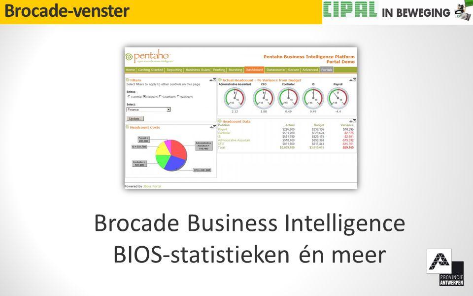 Brocade-venster Brocade Business Intelligence BIOS-statistieken én meer