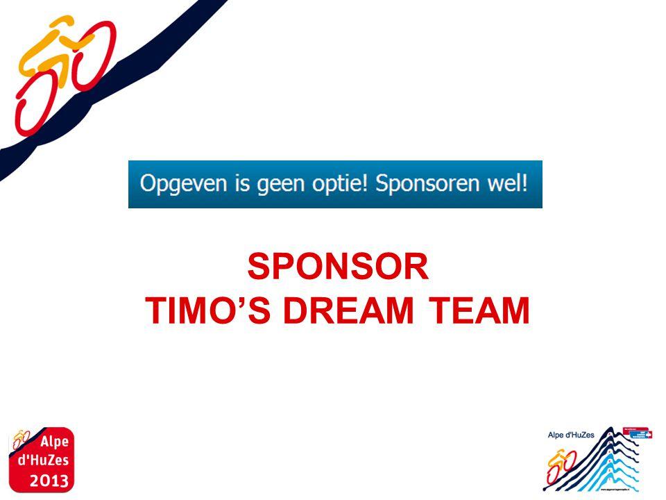SPONSOR TIMO'S DREAM TEAM