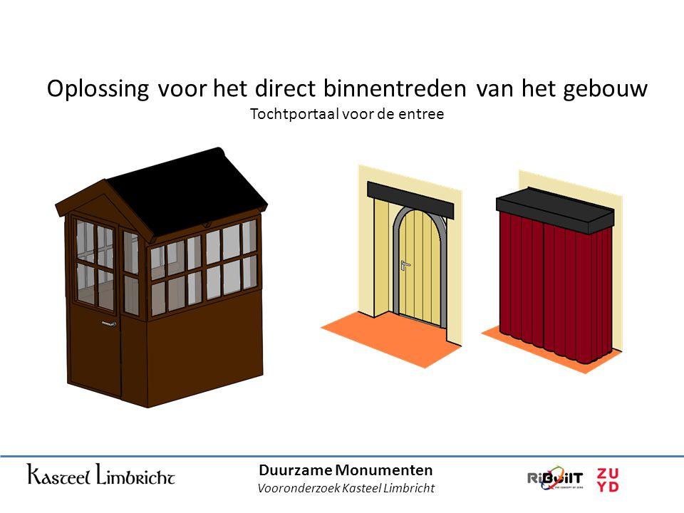 Duurzame Monumenten Vooronderzoek Kasteel Limbricht Oplossing voor het direct binnentreden van het gebouw Tochtportaal voor de entree