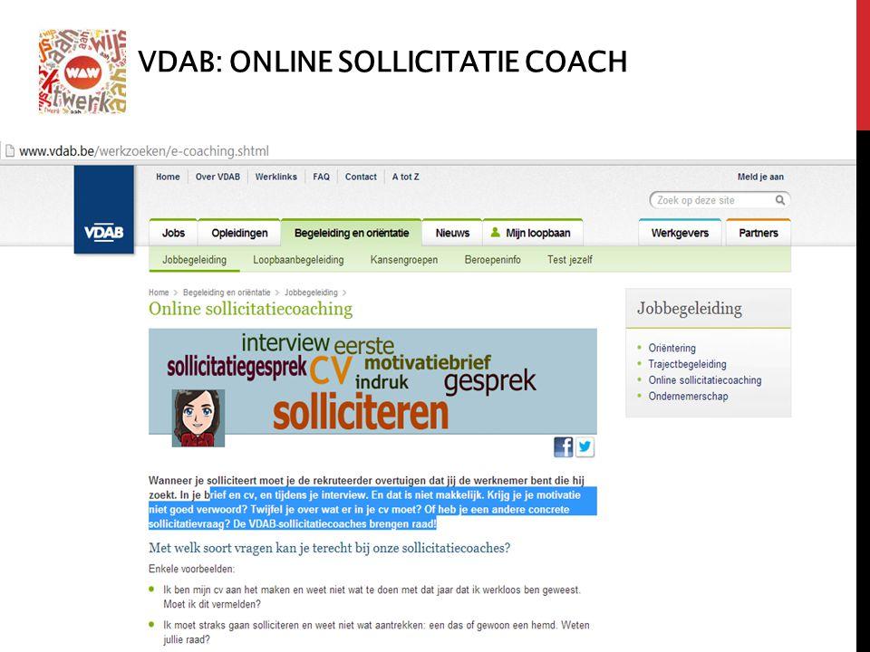 VDAB: ONLINE SOLLICITATIE COACH