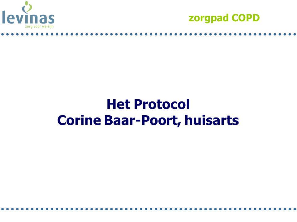 zorgpad COPD Het Protocol Corine Baar-Poort, huisarts