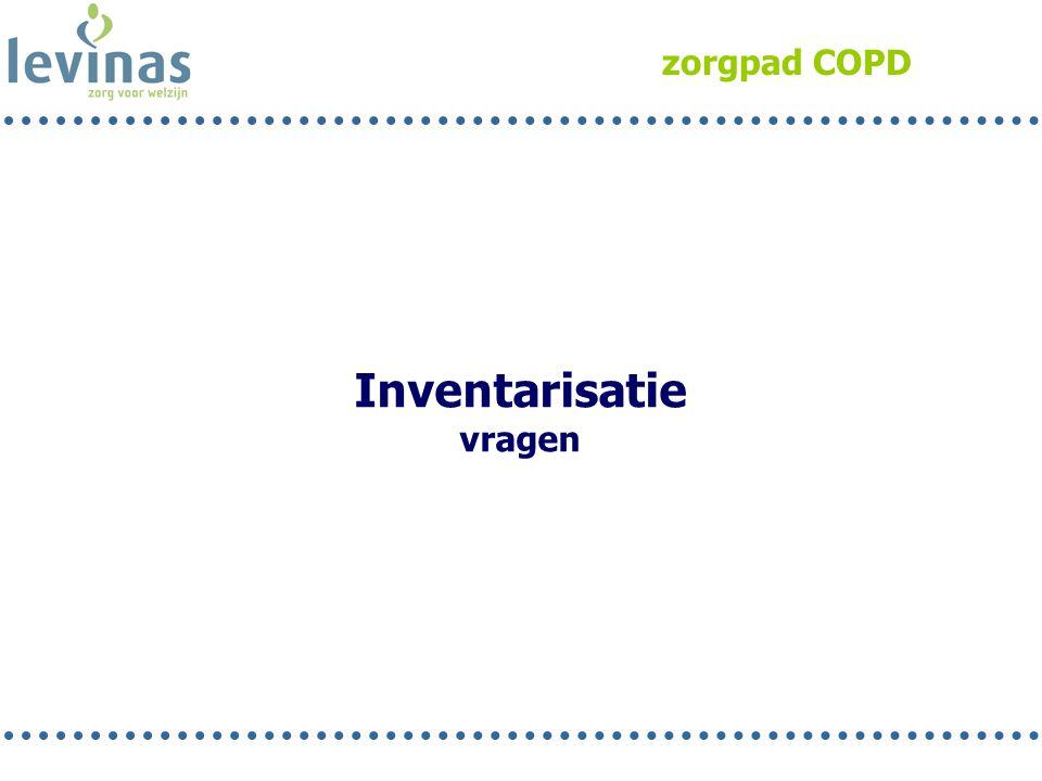zorgpad COPD Inventarisatie vragen