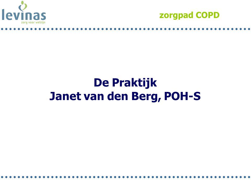 zorgpad COPD De Praktijk Janet van den Berg, POH-S