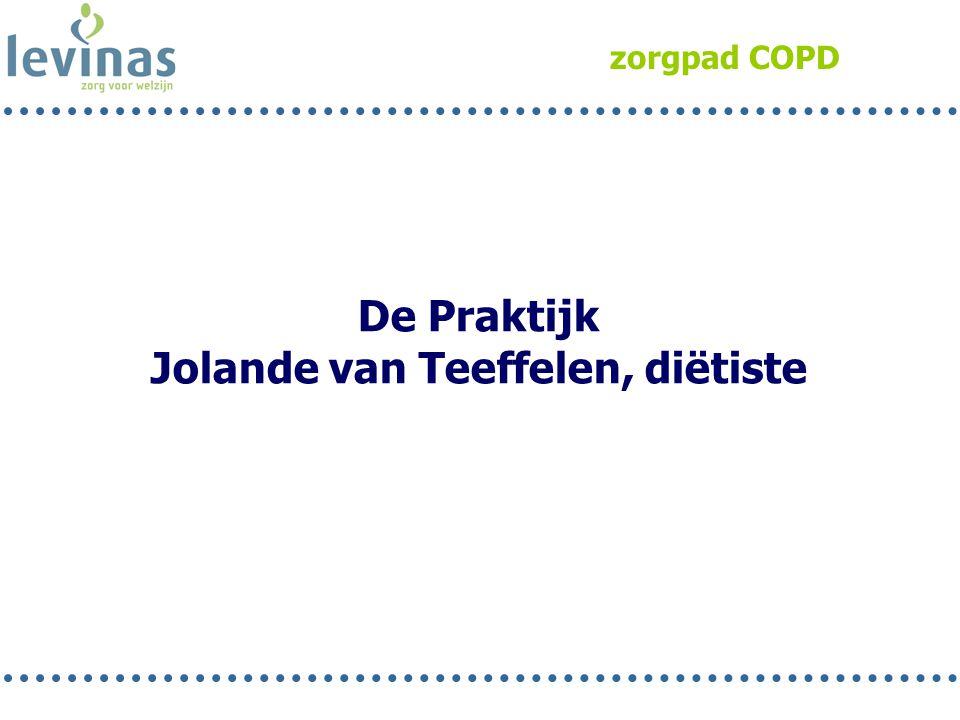 zorgpad COPD De Praktijk Jolande van Teeffelen, diëtiste