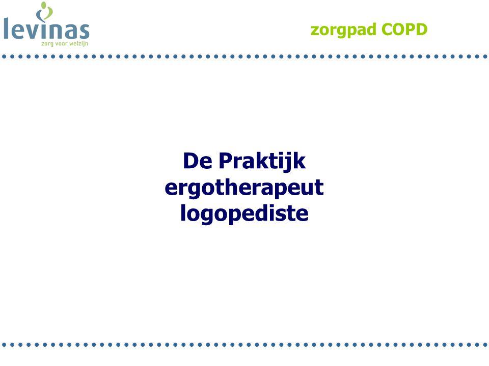 zorgpad COPD De Praktijk ergotherapeut logopediste