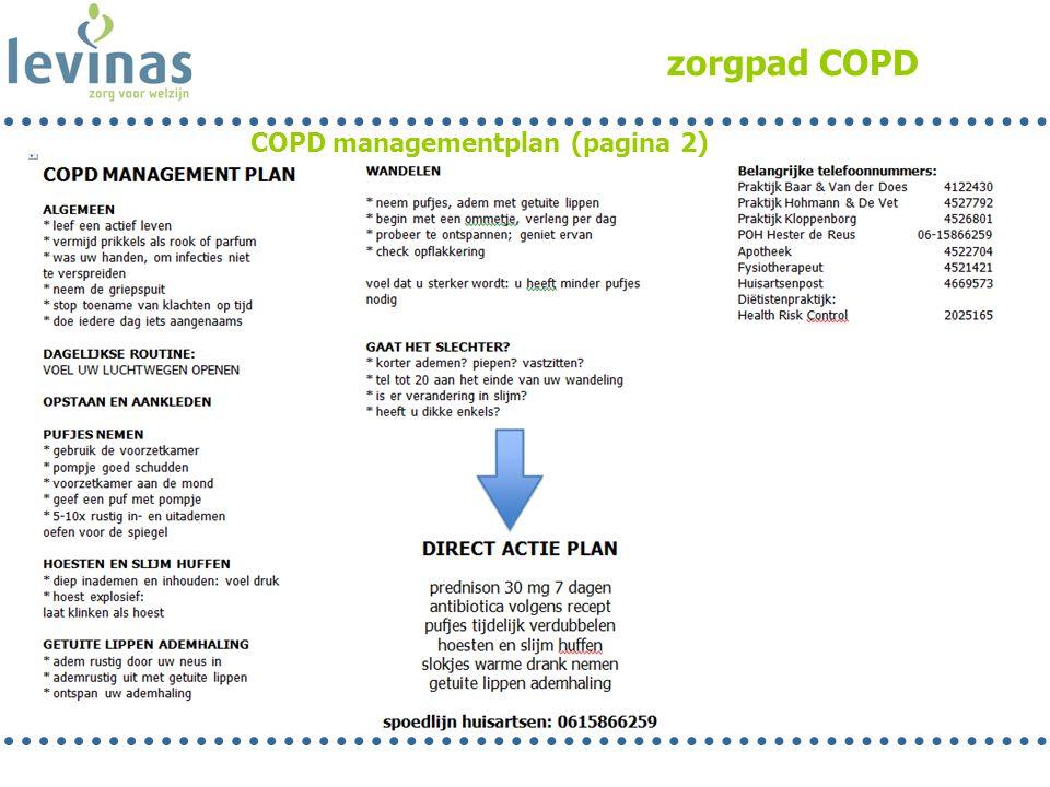 zorgpad COPD COPD managementplan (pagina 2)