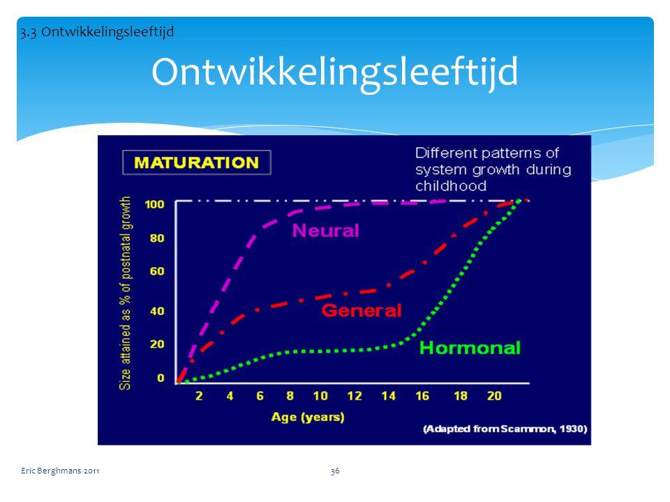 Eric Berghmans 201136 Ontwikkelingsleeftijd 3.3 Ontwikkelingsleeftijd