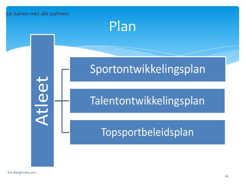 Eric Berghmans 2011 65 Plan 3.6 Samen met alle partners