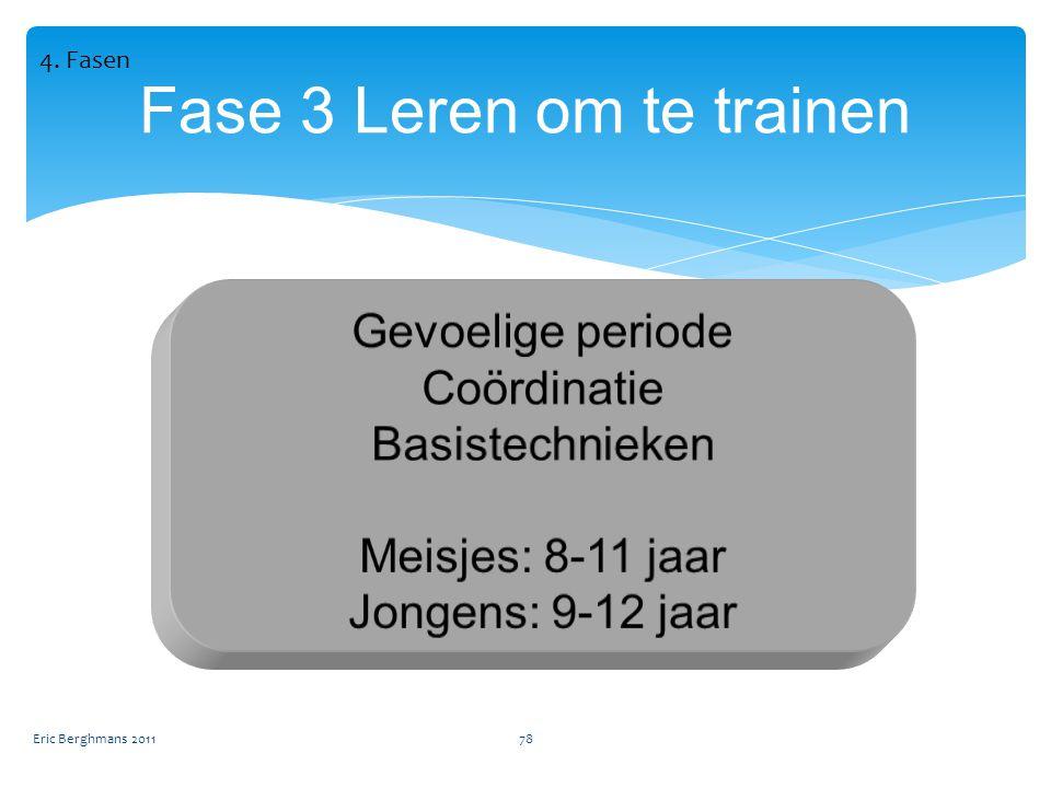 Eric Berghmans 201178 Fase 3 Leren om te trainen 4. Fasen