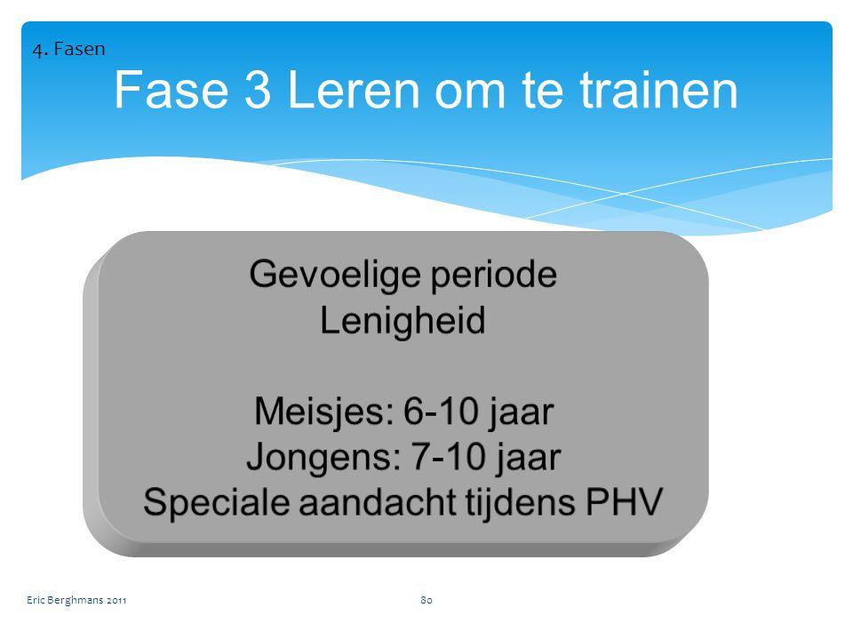 Eric Berghmans 201180 Fase 3 Leren om te trainen 4. Fasen
