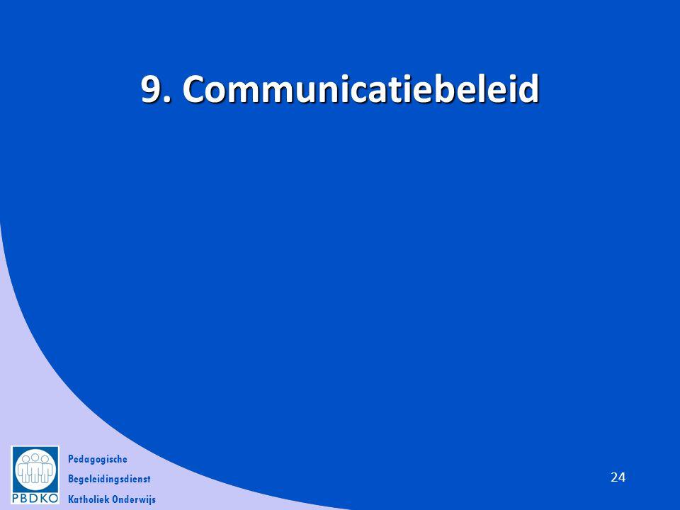 Pedagogische Begeleidingsdienst Katholiek Onderwijs 9. Communicatiebeleid 24