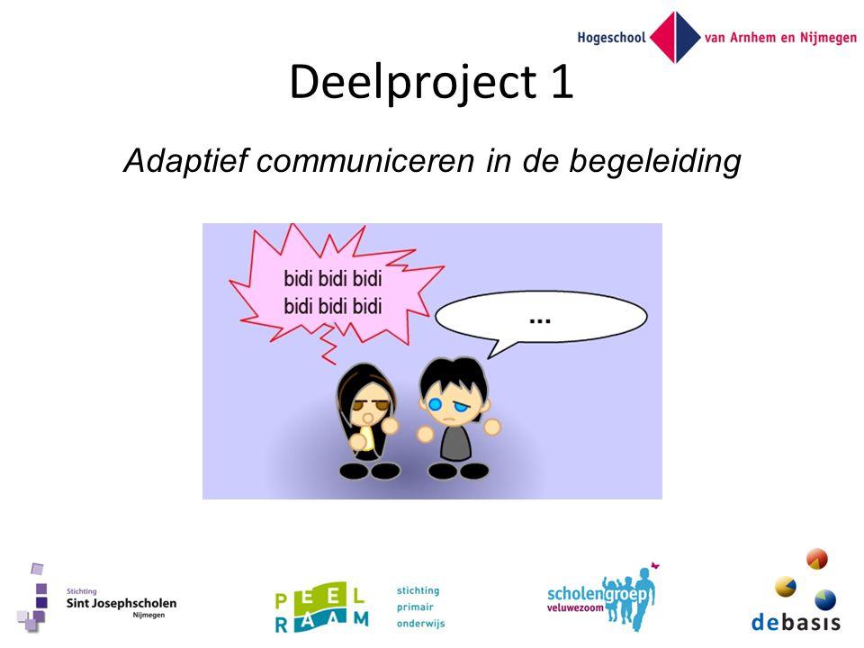 Deelproject 1 Adaptief communiceren in de begeleiding