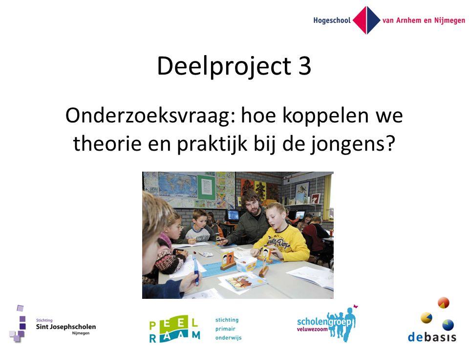 Deelproject 3 Onderzoeksvraag: hoe koppelen we theorie en praktijk bij de jongens?