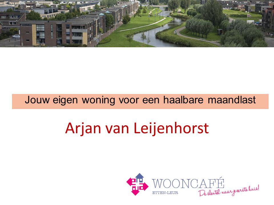 Arjan van Leijenhorst Jouw eigen woning voor een haalbare maandlast
