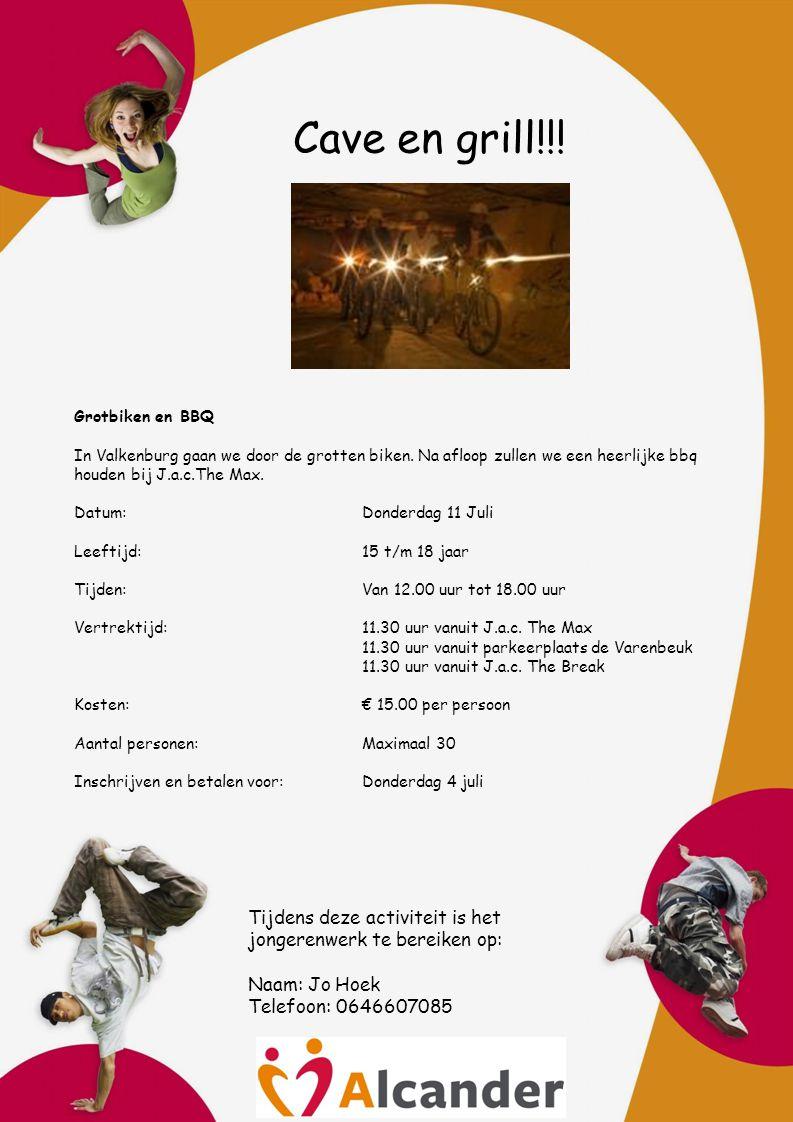 Cave en grill!!. Grotbiken en BBQ In Valkenburg gaan we door de grotten biken.