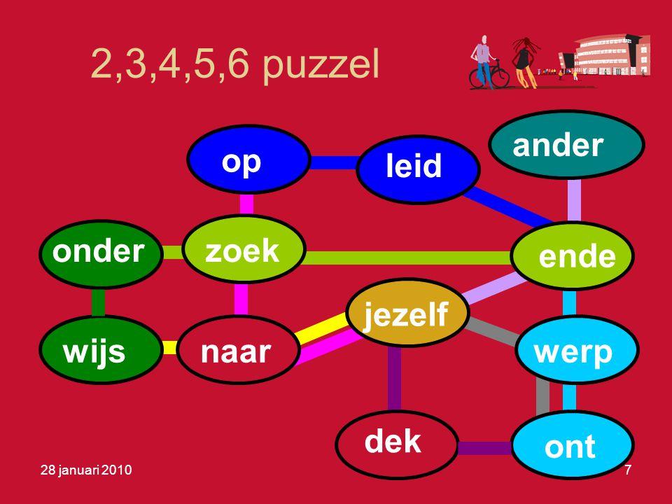 2,3,4,5,6 puzzel onder op leid ende werp ont zoek wijsnaar jezelf dek ander 28 januari 20107