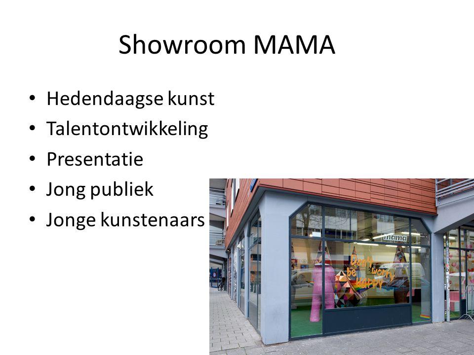 Showroom MAMA • Hedendaagse kunst • Talentontwikkeling • Presentatie • Jong publiek • Jonge kunstenaars