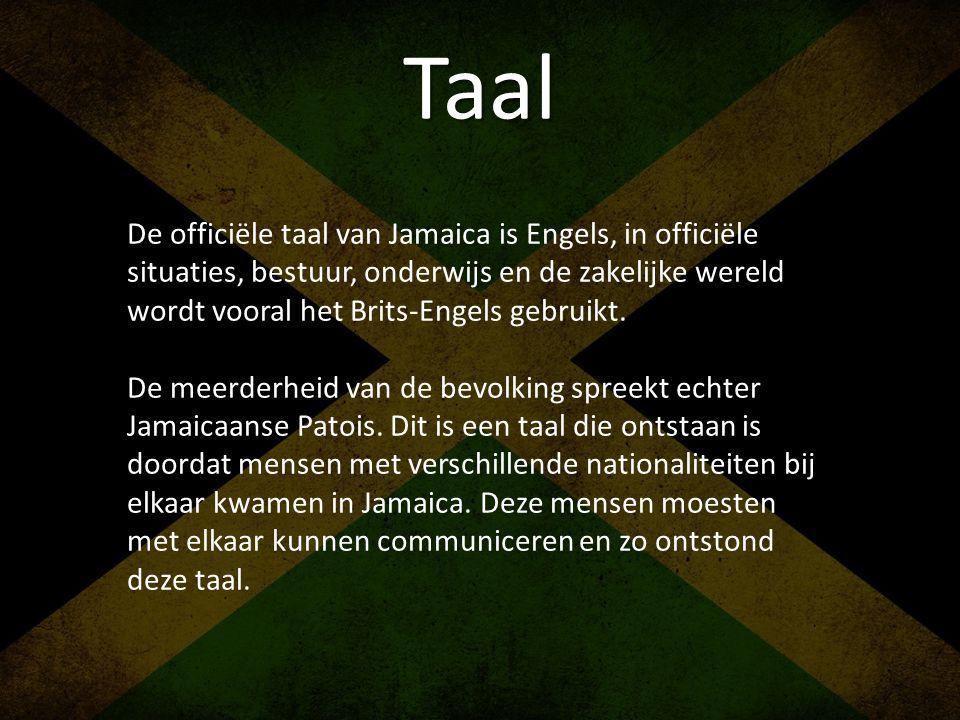 Taal De officiële taal van Jamaica is Engels, in officiële situaties, bestuur, onderwijs en de zakelijke wereld wordt vooral het Brits-Engels gebruikt