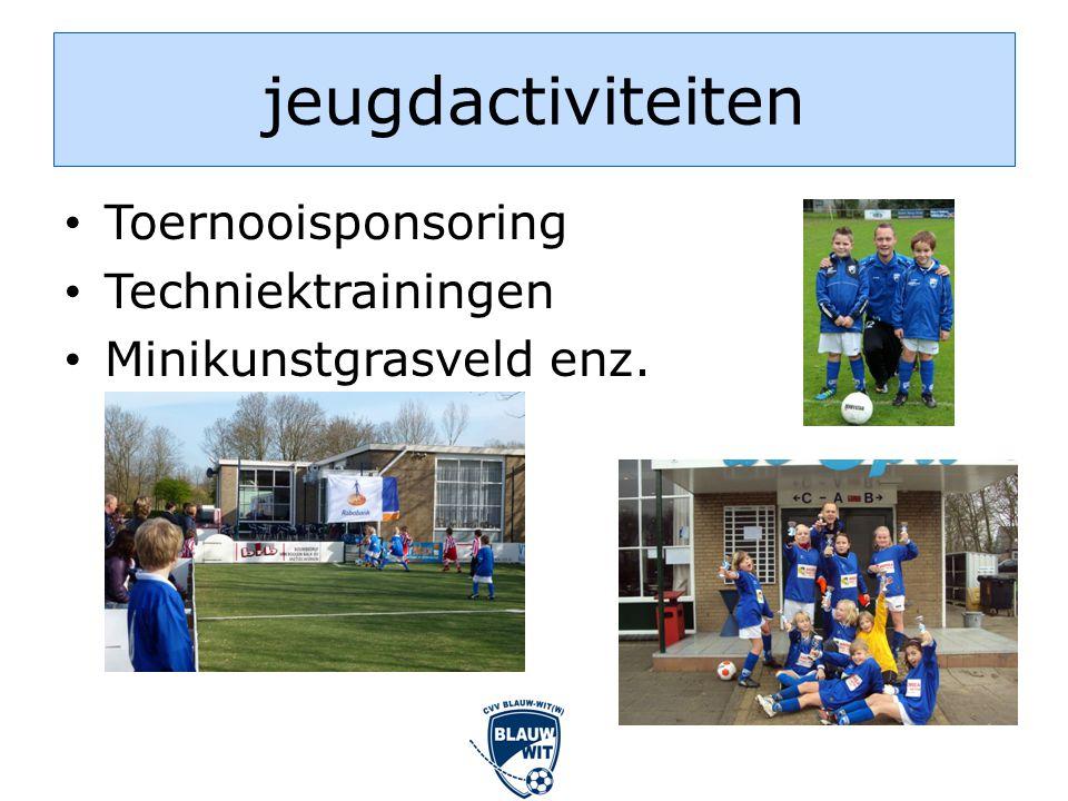 jeugdactiviteiten • Toernooisponsoring • Techniektrainingen • Minikunstgrasveld enz.
