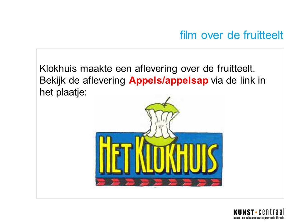 film over de fruitteelt Klokhuis maakte een aflevering over de fruitteelt.