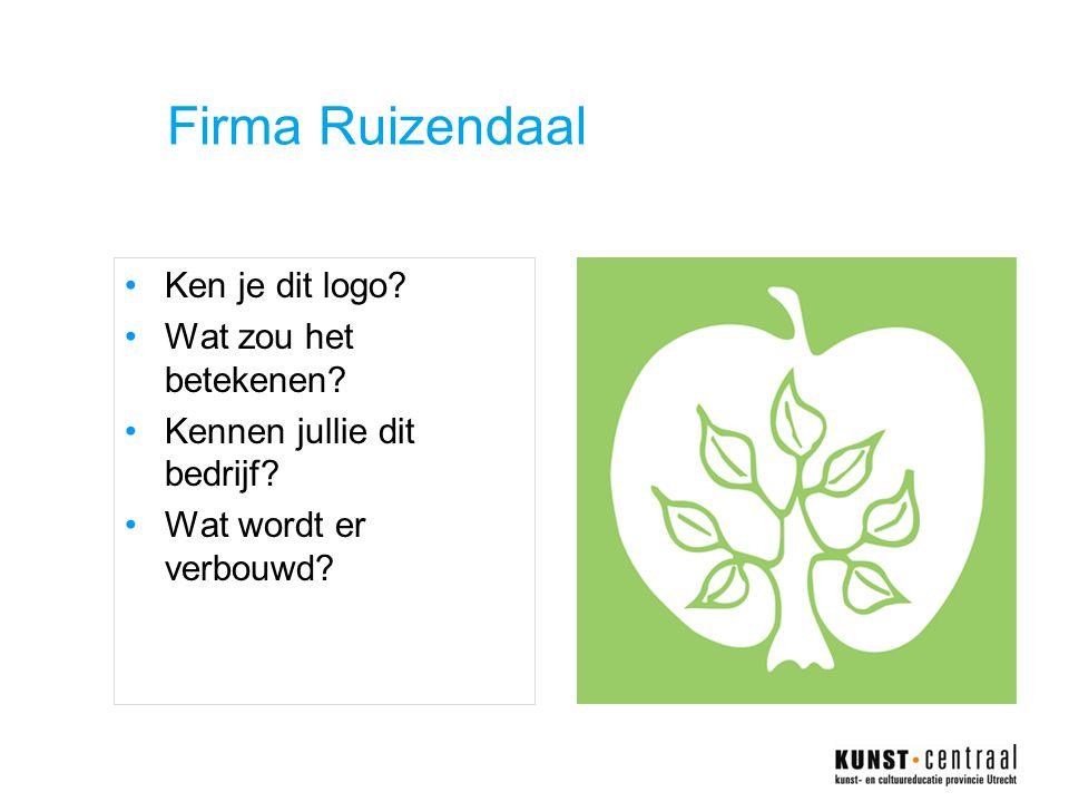 Firma Ruizendaal •Ken je dit logo.•Wat zou het betekenen.