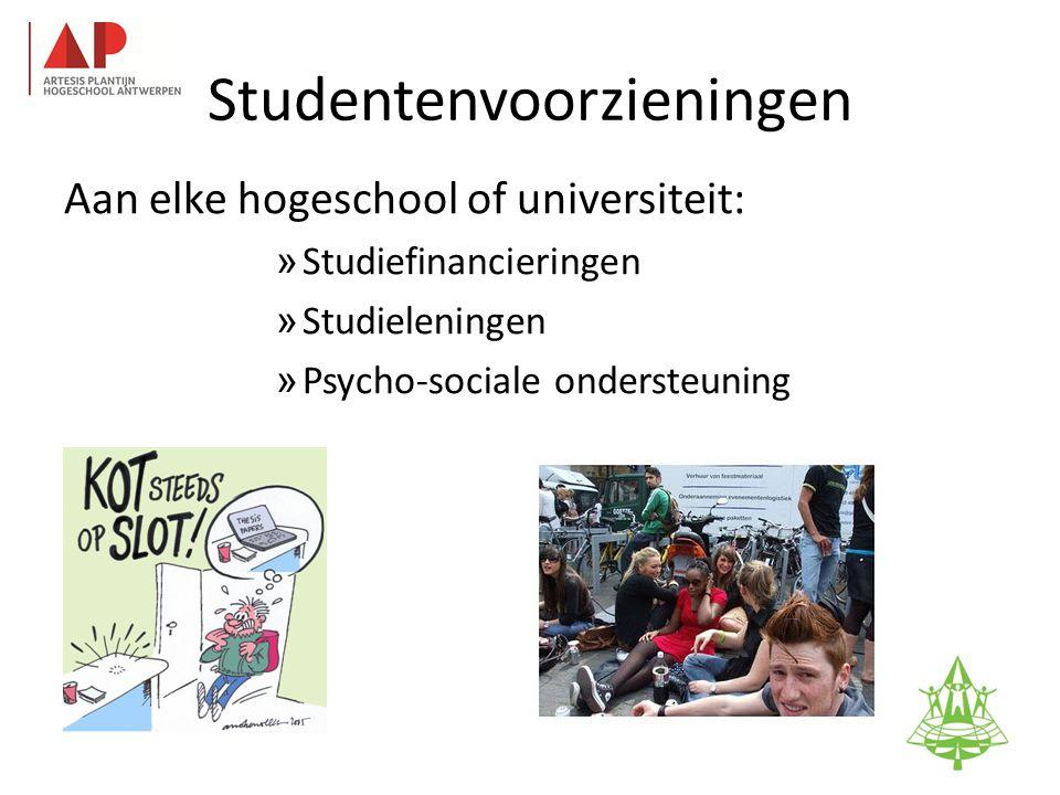 Studentenvoorzieningen Aan elke hogeschool of universiteit: » Studiefinancieringen » Studieleningen » Psycho-sociale ondersteuning 35