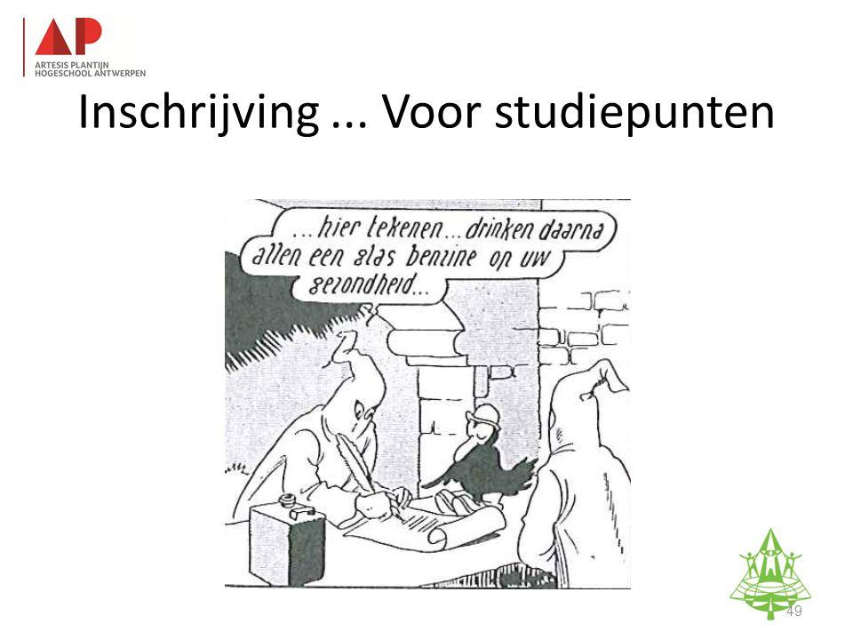 Studie-informatieavond K. A. Keerbergen – 18 februari 2011 Inschrijving... Voor studiepunten 49