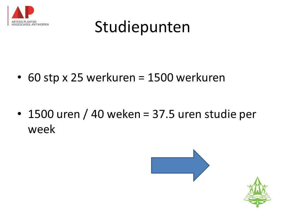 Studiepunten • 60 stp x 25 werkuren = 1500 werkuren • 1500 uren / 40 weken = 37.5 uren studie per week 54