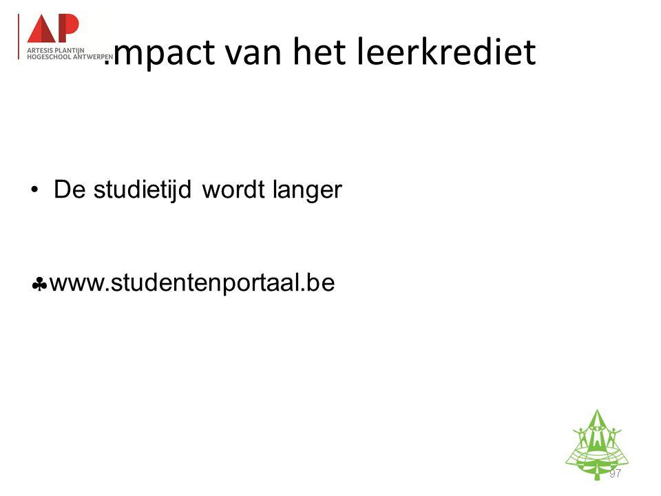 • De studietijd wordt langer  www.studentenportaal.be Studie-informatieavond K.