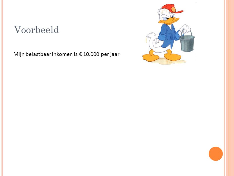 Voorbeeld Mijn belastbaar inkomen is € 10.000 per jaar