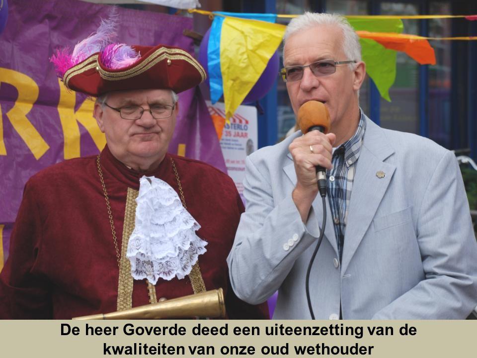 De heer van der Pols opende in 1977 als wethouder van Rotterdam, markt Asterlo, 35 jaar later opend hij de feestmarkt en memoreerde hij hoe deze markt