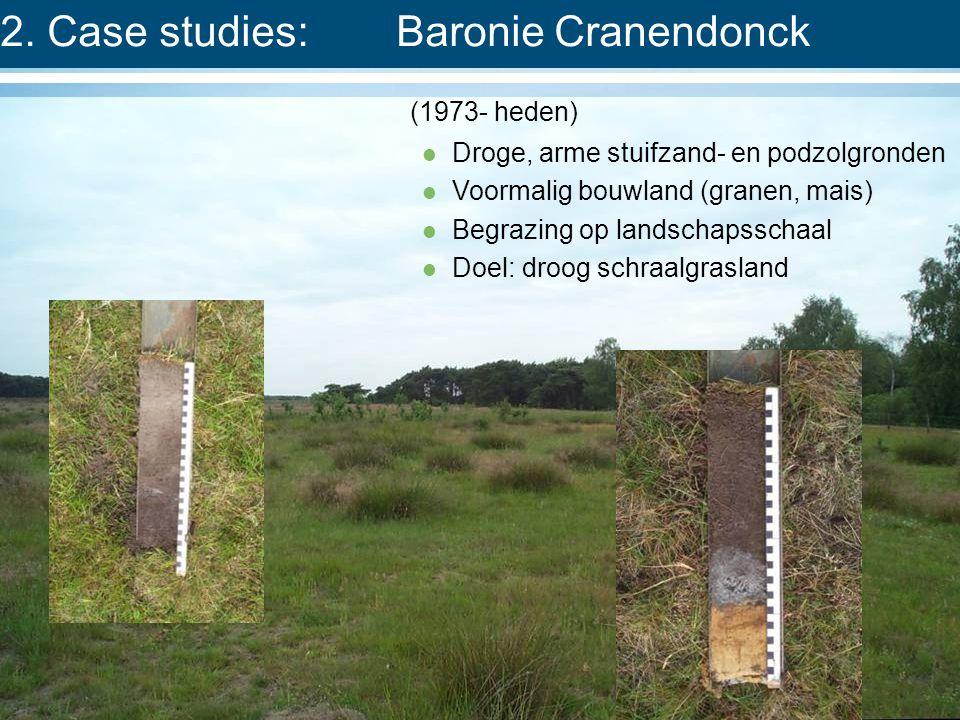 (1973- heden)  Droge, arme stuifzand- en podzolgronden  Voormalig bouwland (granen, mais)  Begrazing op landschapsschaal  Doel: droog schraalgrasland 2.