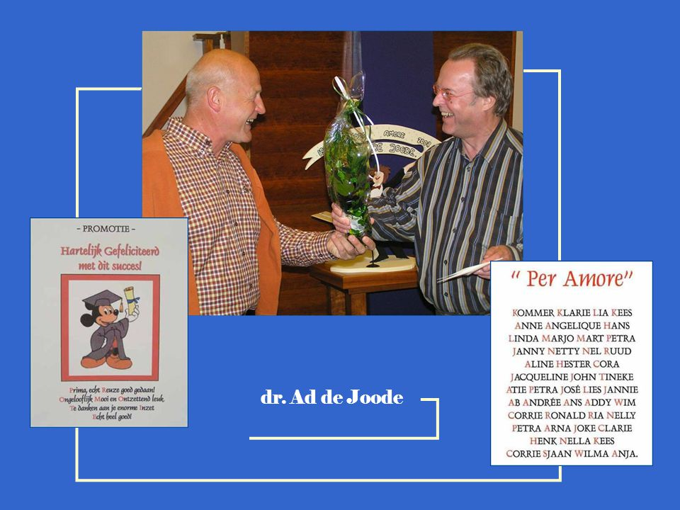 dr. Ad de Joode