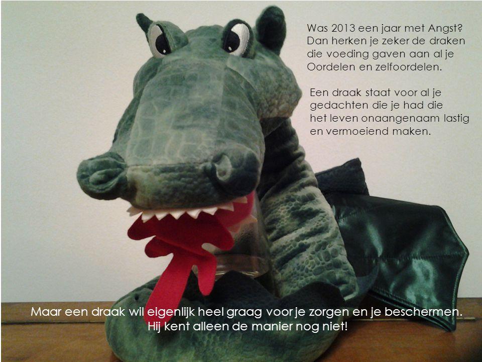 Was 2013 een jaar met Angst? Dan herken je zeker de draken die voeding gaven aan al je Oordelen en zelfoordelen. Een draak staat voor al je gedachten