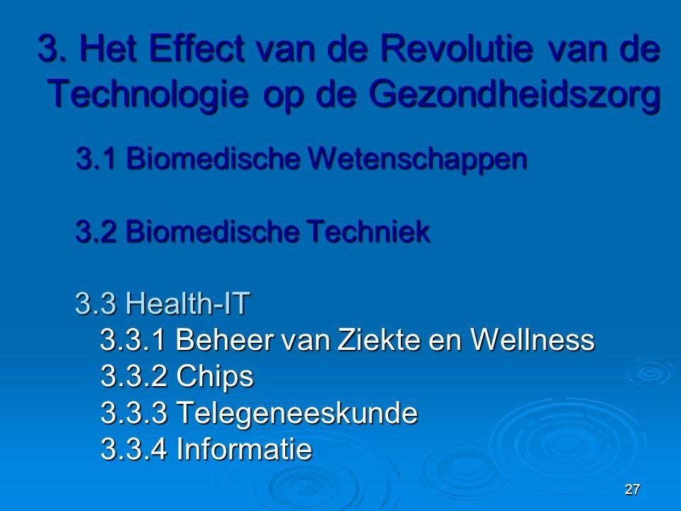 27 3.Het Effect van de Revolutie van de Technologie op de Gezondheidszorg 3.
