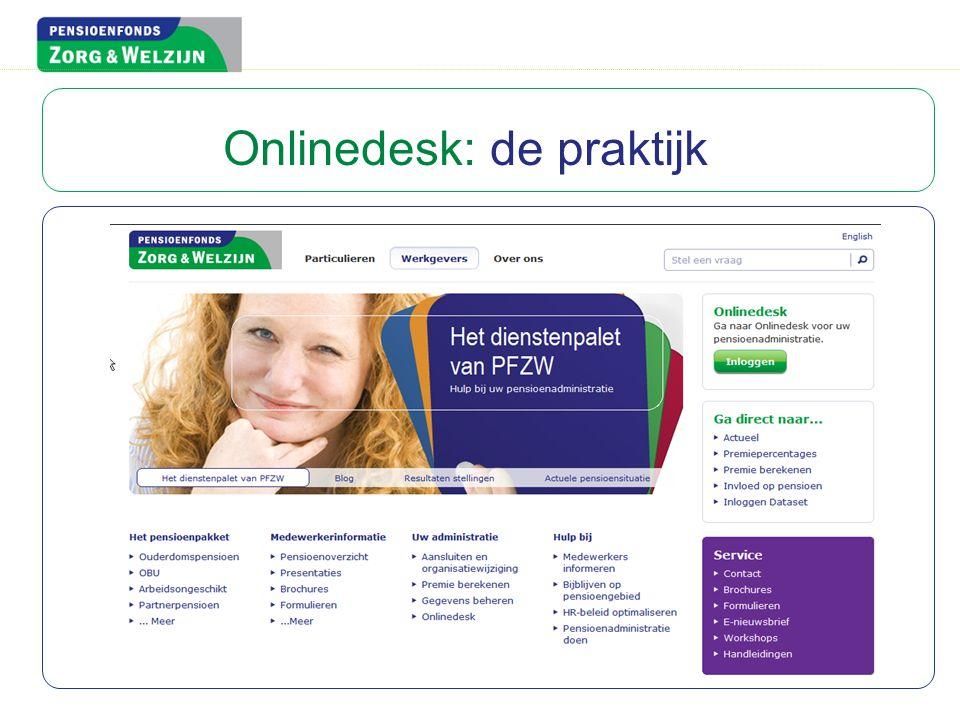 Onlinedesk: de praktijk