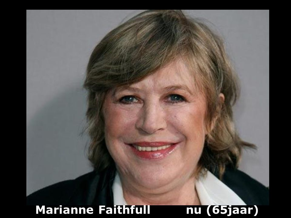 Marianne Faithfull (1946) Rockzangeres - actrice vroeger