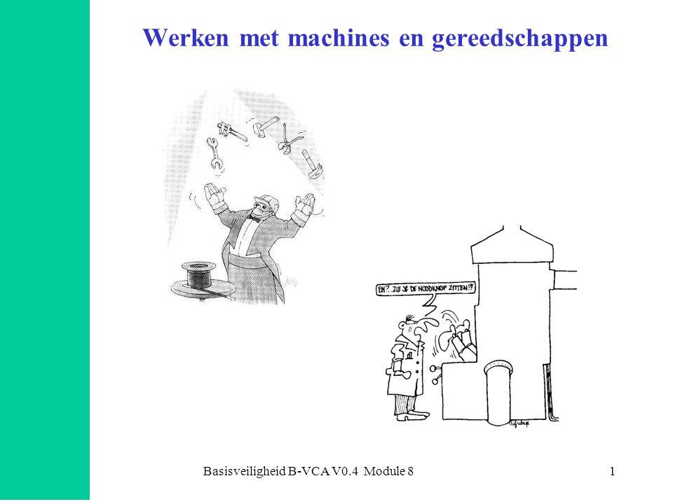 Basisveiligheid B-VCA V0.4 Module 81 Werken met machines en gereedschappen Hoezo onveilig ?