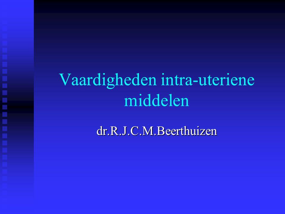 17 oktober 2003Vaardigheden IUDs Welke IUDs zijn er in Nederland  Het levonorgestrel-afgevend intra-uterien systeem: de Mirena  De koperspiraaltjes Multiload Cu 375, Multiload Cu 375 SL, Flexi-T 300; Flexi-T + 300  Het koperimplantaat Gynefix