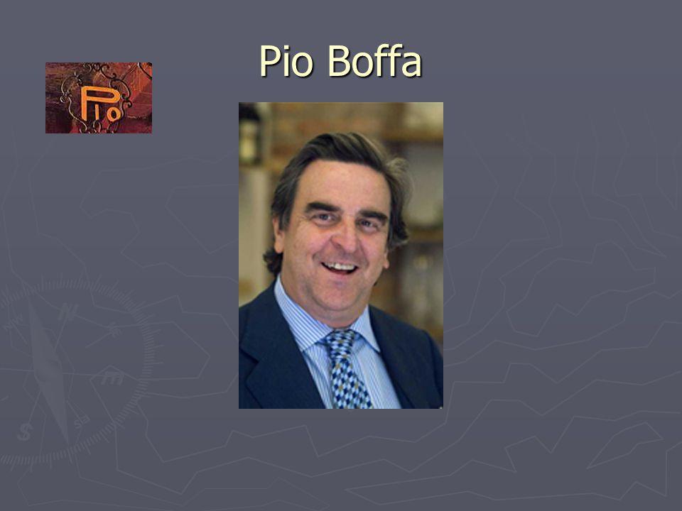 Pio Boffa (2) Pio Boffa is geboren in Alba op 13 december 1954 Zoon van Rosy Pio Boffa, kleindochter van Cesare Pio.