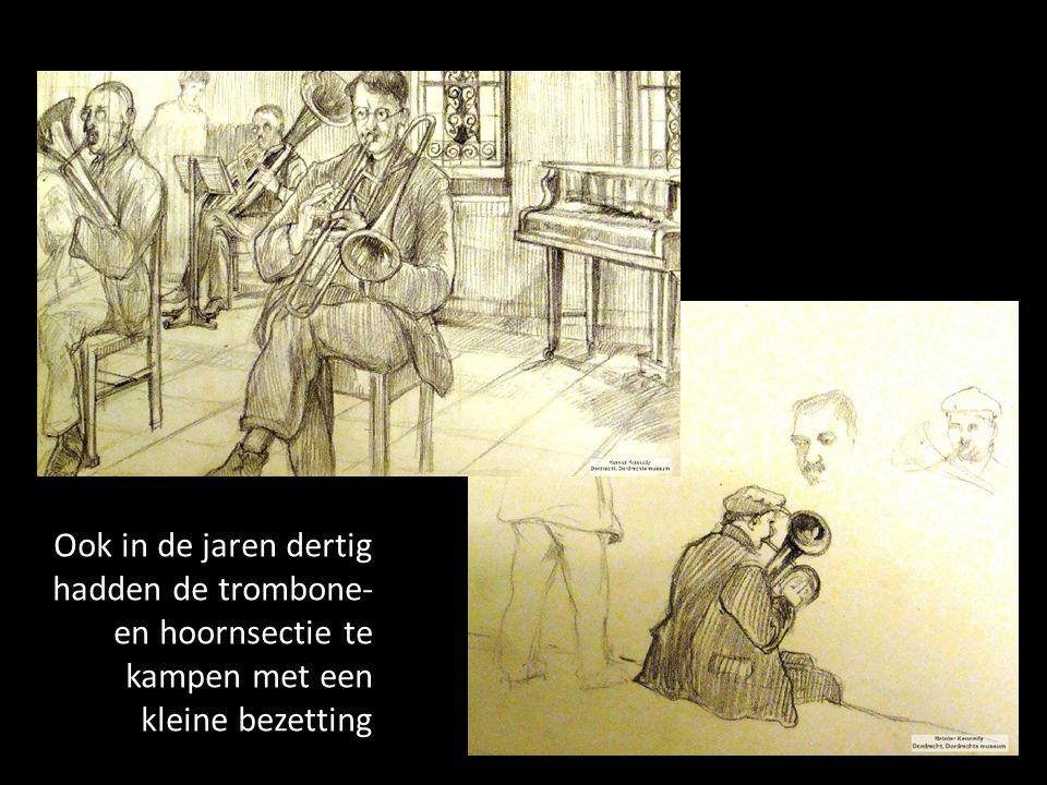 Ook in de jaren dertig hadden de trombone- en hoornsectie te kampen met een kleine bezetting