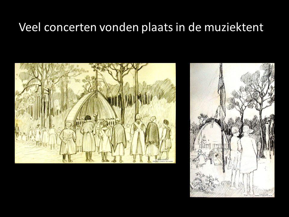 Veel concerten vonden plaats in de muziektent