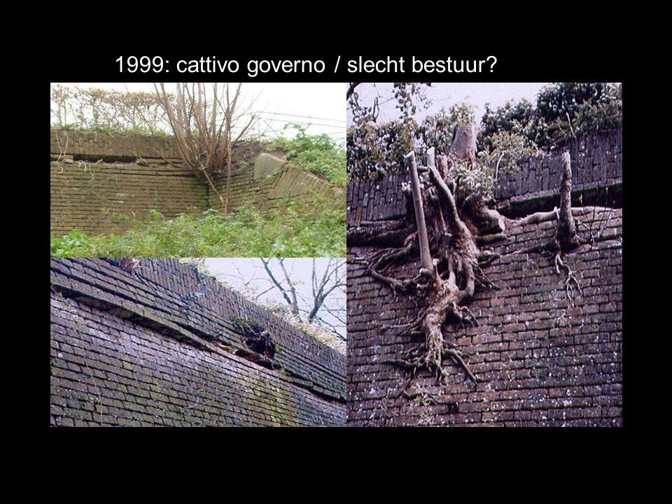 1999: cattivo governo / slecht bestuur?